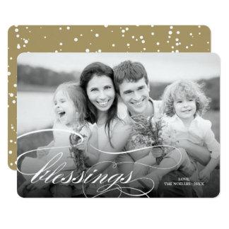 Tarjeta religiosa de la foto del navidad de las
