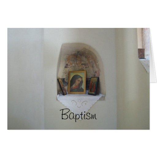 Tarjeta religiosa del bautismo de los iconos