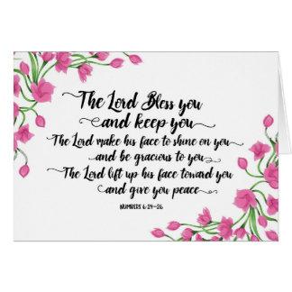 Tarjeta Religioso el señor Bless You y le guarda