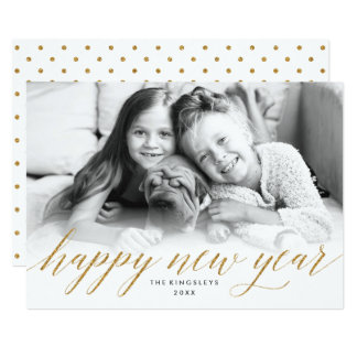 Tarjeta reluciente de la foto del Año Nuevo en