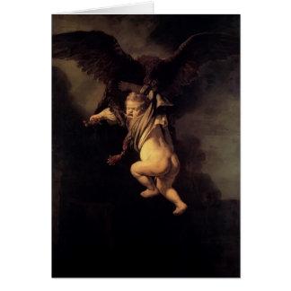 Tarjeta Rembrandt la abducción de Ganymede