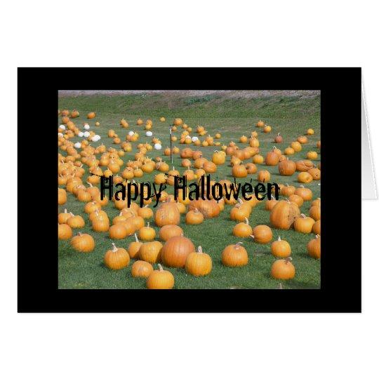 Tarjeta Remiendo de la calabaza del feliz Halloween