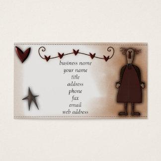 Tarjeta remilgada del perfil de la muñeca w/Hearts