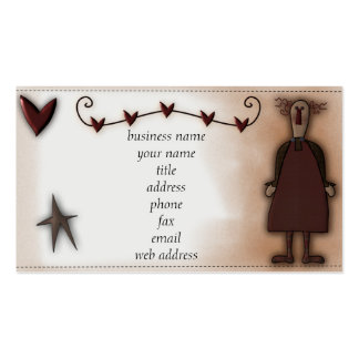Tarjeta remilgada del perfil de la muñeca w/Hearts Tarjetas De Visita