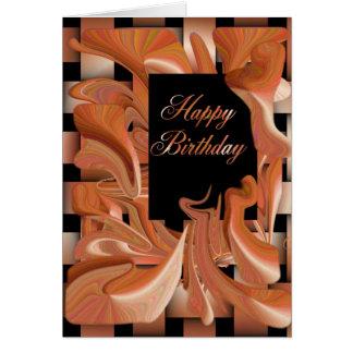 Tarjeta Remolino del melocotón del feliz cumpleaños