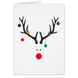 Tarjeta Reno abstracto divertido moderno del navidad en