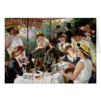 Tarjeta Renoir: Alumerzo del fiesta del canotaje