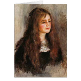 """Tarjeta Renoir """"retrato de Julia Manet """""""