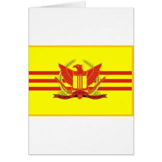 Tarjeta República de la bandera de las fuerzas militares