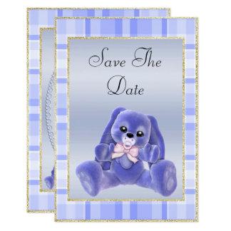 Tarjeta Reserva azul linda del conejito la fiesta de