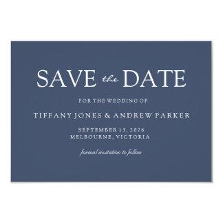 Tarjeta Reserva azul moderna elegante simple del boda la