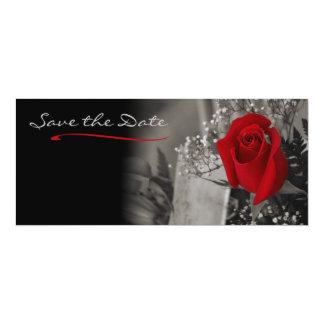 Tarjeta Reserva blanco y negro elegante del rosa rojo la