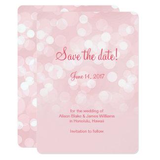 Tarjeta Reserva chispeante rosada elegante del bokeh la