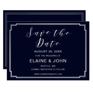 Tarjeta Reserva clásica de la bodas de plata de la marina