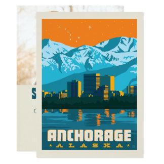 Tarjeta Reserva de Anchorage, Alaska el | la fecha - foto