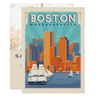 Tarjeta Reserva de Boston, Massachusetts el   la fecha -