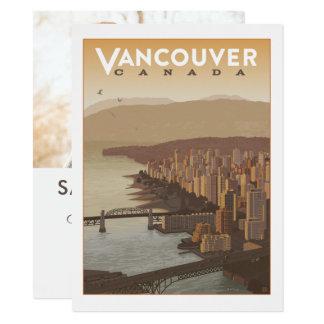 Tarjeta Reserva de Vancouver Canadá el | la fecha - foto