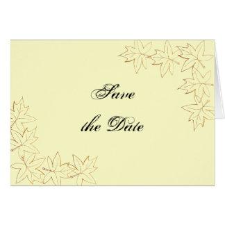 Tarjeta Reserva del boda del borde de la hoja de arce la