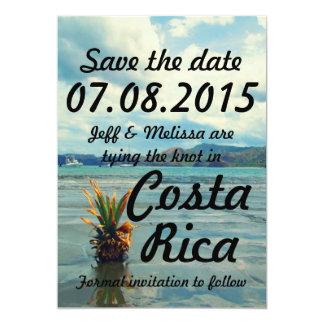 Tarjeta Reserva del boda del destino de Costa Rica la