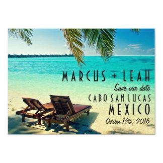 Tarjeta Reserva del boda del destino de México la fecha