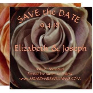 Tarjeta Reserva del rosa la fecha