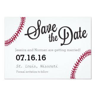 Tarjeta Reserva del tema del béisbol la fecha