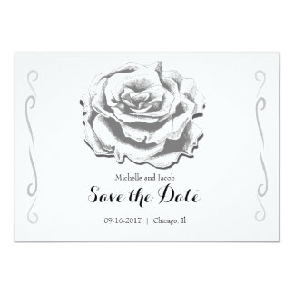 Tarjeta Reserva elegante minimalista del rosa del vintage