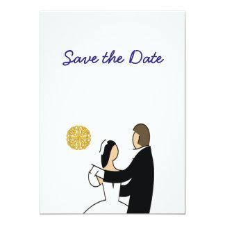 Tarjeta Reserva escocesa, céltica del boda de los pares la
