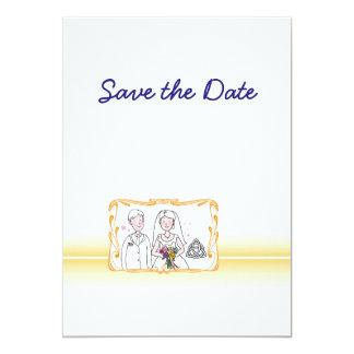 Tarjeta Reserva escocesa, céltica del tema del boda la