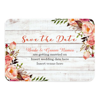 Tarjeta Reserva floral del lavado blanco la fecha