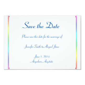 Tarjeta Reserva gay floral del boda del arco iris elegante