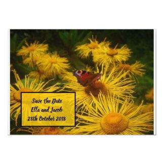 Tarjeta Reserva hermosa de la mariposa las fechas con la