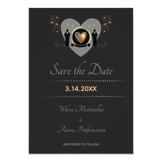 Tarjeta Reserva masculina del boda el | del corazón del