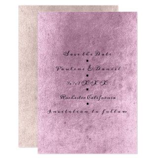 Tarjeta Reserva mínima el sucio de color de malva del rosa