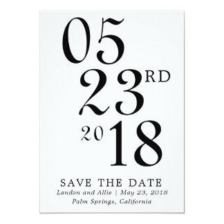 Tarjeta Reserva moderna de la tipografía la fecha