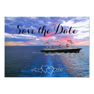 Tarjeta Reserva náutica de la travesía el | del boda el