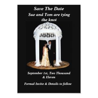 Tarjeta Reserva negra del boda la fecha