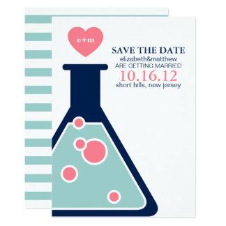 Tarjeta Reserva perfecta del boda de la química la fecha