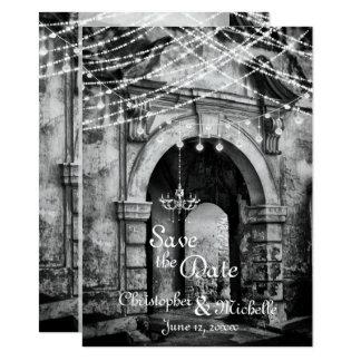 Tarjeta Reserva romántica de la arcada del gótico de las