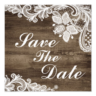 Tarjeta Reserva rústica de madera y del boda del cordón
