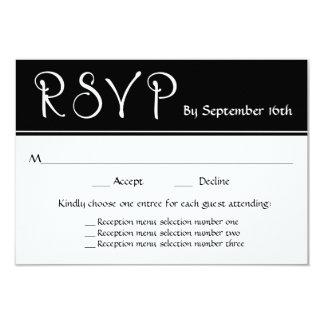 Tarjeta Respuesta de las opciones del menú de RSVP 3 de la