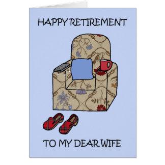Tarjeta Retiro feliz de la esposa
