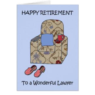 Tarjeta Retiro feliz del abogado