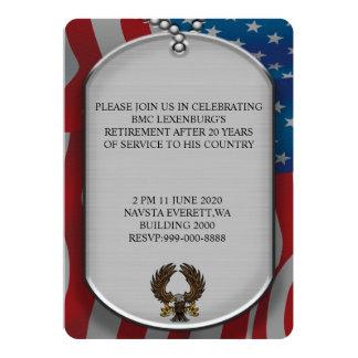 Tarjeta Retiro militar del estilo de las placas de