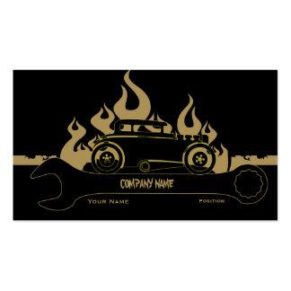 Tarjeta retra de la empresa de servicios del coche tarjetas de visita