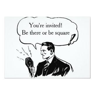 Tarjeta retra de la invitación o de la invitación