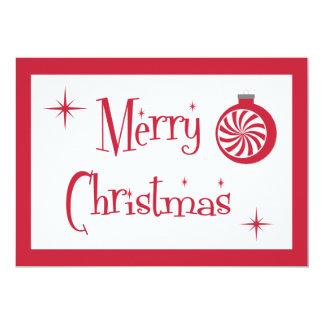 Tarjeta retra de las Felices Navidad Invitación 12,7 X 17,8 Cm