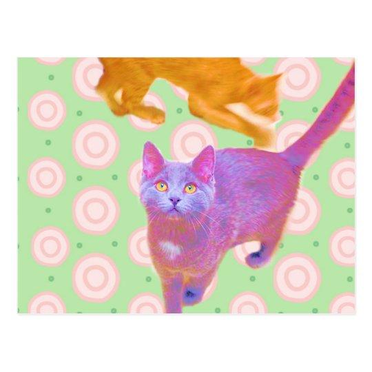 Tarjeta retra de los gatitos