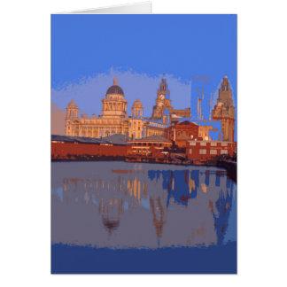 Tarjeta retra del poster-estilo de Liverpool