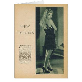 Tarjeta Retrato 1930 del vintage de Jeanette Loff en